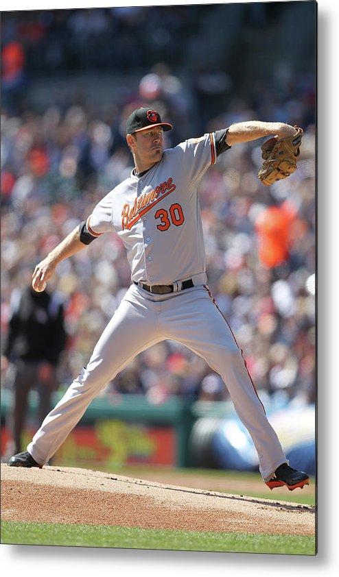 American League Baseball Metal Print featuring the photograph Chris Tillman by John Grieshop