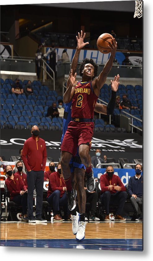 Nba Pro Basketball Metal Print featuring the photograph Cleveland Cavaliers v Orlando Magic by Gary Bassing