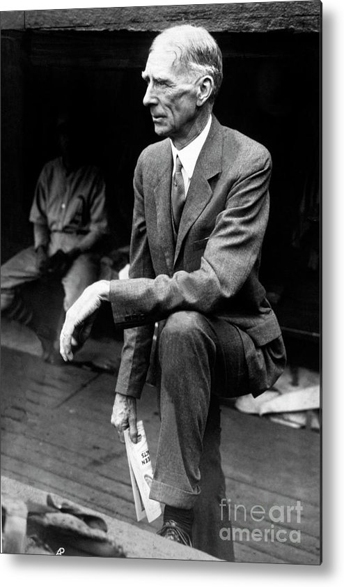 American League Baseball Metal Print featuring the photograph Connie Mack by National Baseball Hall Of Fame Library