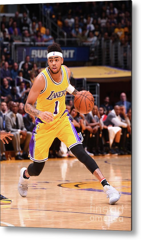 Nba Pro Basketball Metal Print featuring the photograph D'angelo Russell by Andrew D. Bernstein