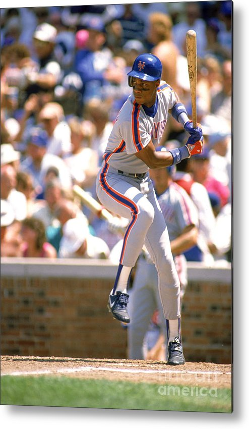 1980-1989 Metal Print featuring the photograph Darryl Strawberry by Ron Vesely