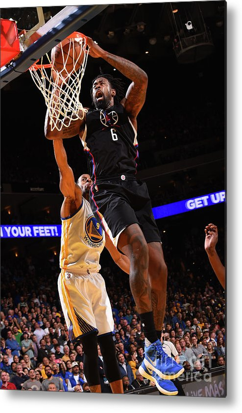Nba Pro Basketball Metal Print featuring the photograph Deandre Jordan by Noah Graham