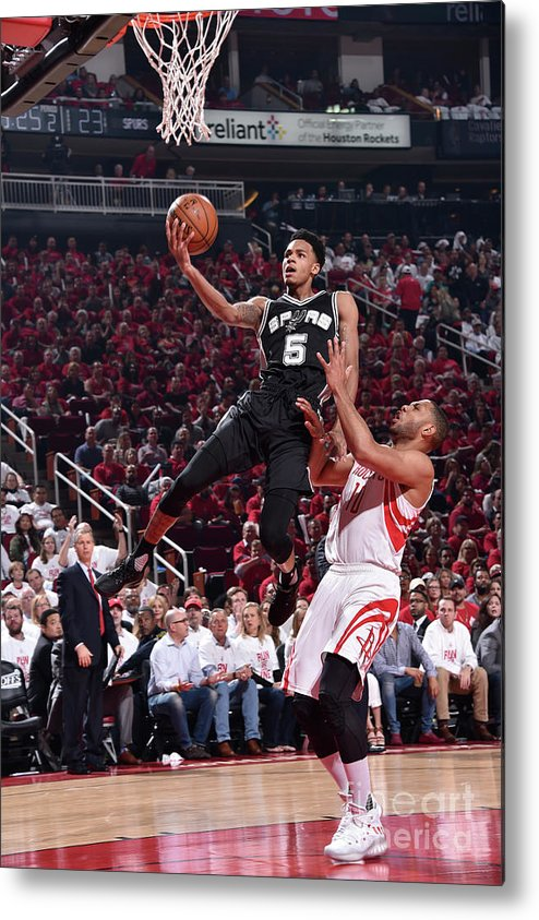 Playoffs Metal Print featuring the photograph Dejounte Murray by Bill Baptist
