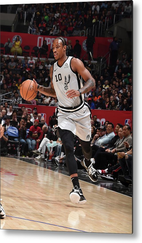 Nba Pro Basketball Metal Print featuring the photograph Demar Derozan by Adam Pantozzi