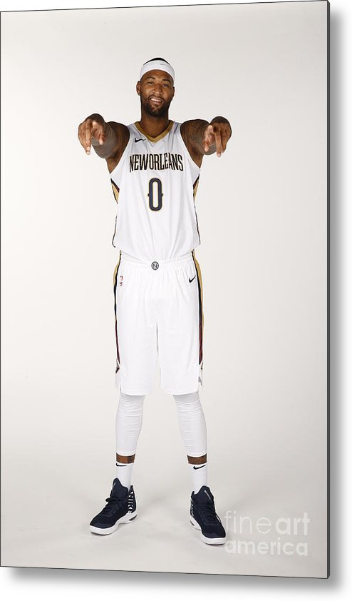 Media Day Metal Print featuring the photograph Demarcus Cousins by Jonathan Bachman