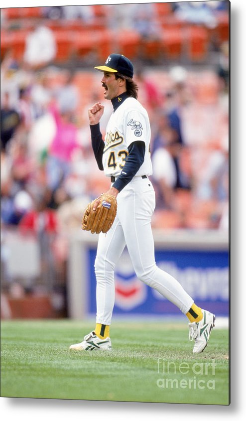 1980-1989 Metal Print featuring the photograph Dennis Eckersley by Don Smith