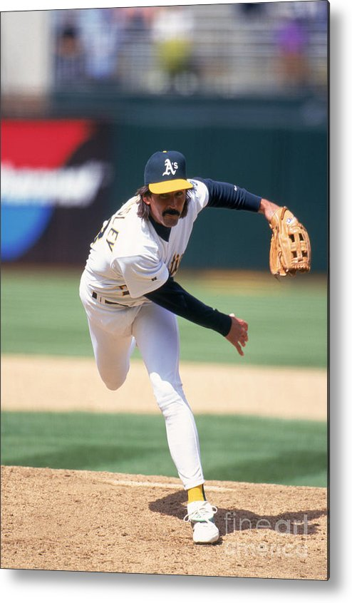Oakland Metal Print featuring the photograph Dennis Eckersley by Jeff Carlick