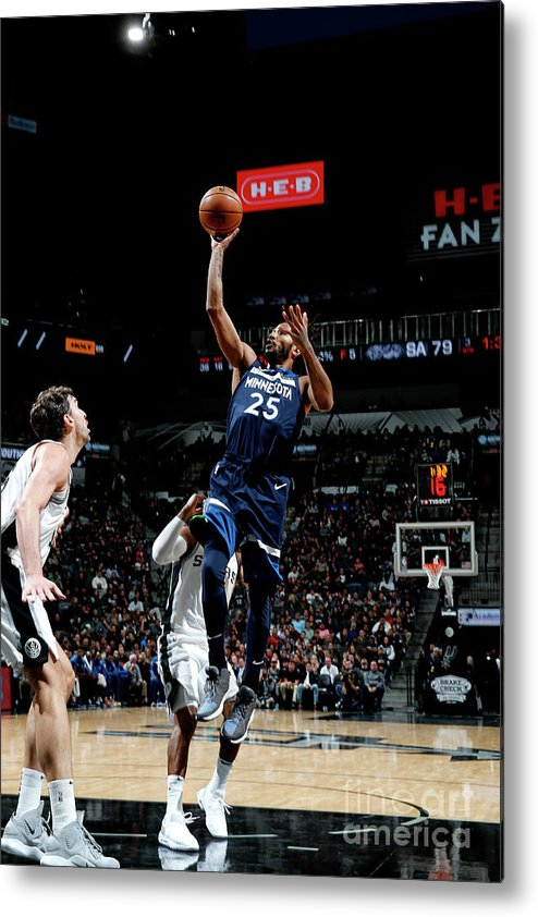 Nba Pro Basketball Metal Print featuring the photograph Derrick Rose by Chris Covatta