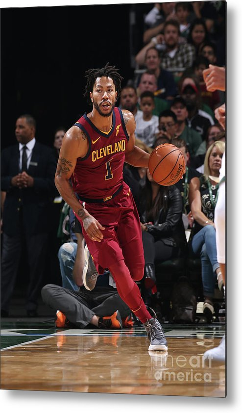 Nba Pro Basketball Metal Print featuring the photograph Derrick Rose by Gary Dineen