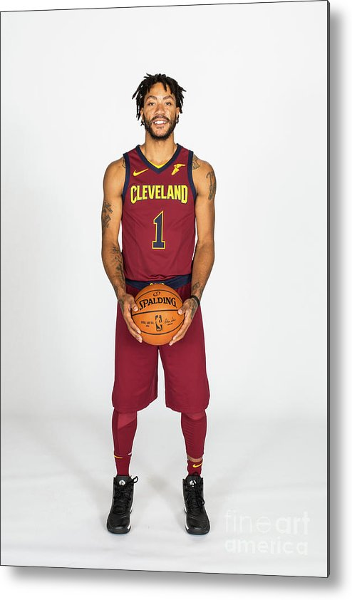 Media Day Metal Print featuring the photograph Derrick Rose by Michael J. Lebrecht Ii