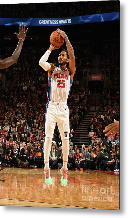 Nba Pro Basketball Metal Print featuring the photograph Derrick Rose by Ron Turenne