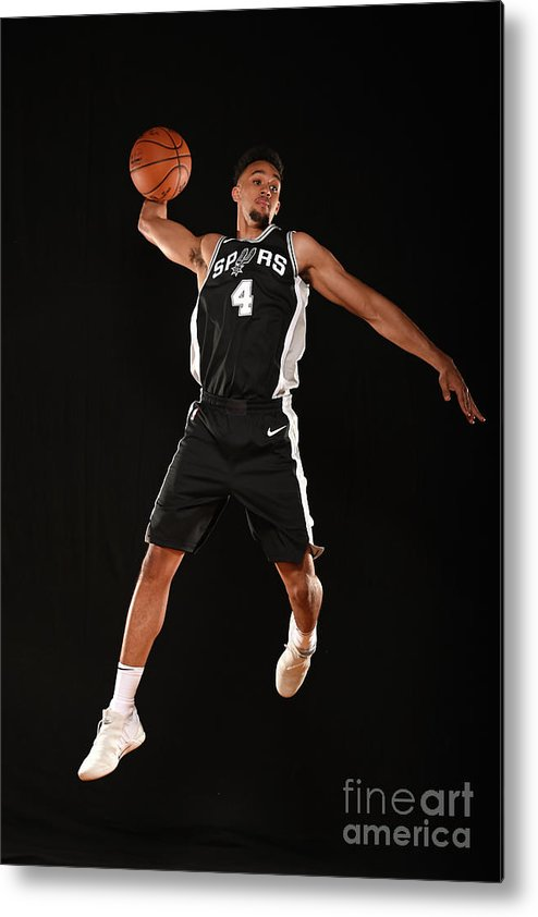 Nba Pro Basketball Metal Print featuring the photograph Derrick White by Brian Babineau