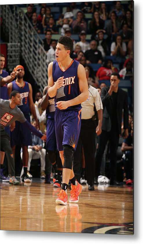 Smoothie King Center Metal Print featuring the photograph Devin Booker by Layne Murdoch