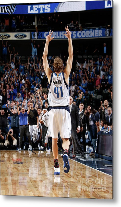 Nba Pro Basketball Metal Print featuring the photograph Dirk Nowitzki by Danny Bollinger