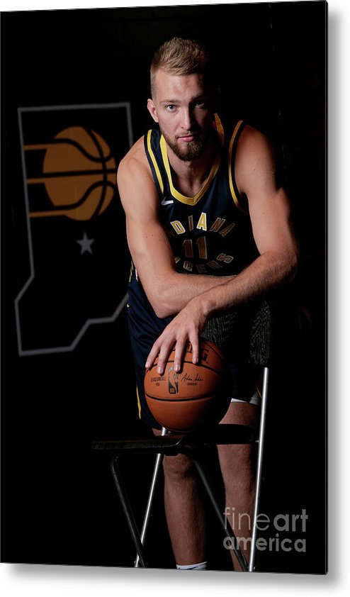 Media Day Metal Print featuring the photograph Domantas Sabonis by Ron Hoskins