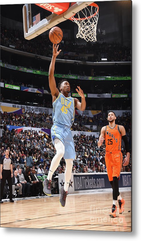 Event Metal Print featuring the photograph Donovan Mitchell by Andrew D. Bernstein