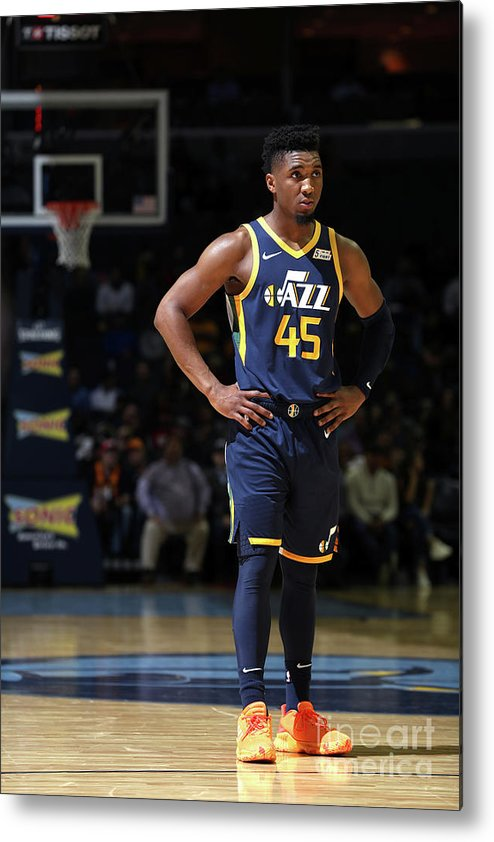 Nba Pro Basketball Metal Print featuring the photograph Donovan Mitchell by Joe Murphy