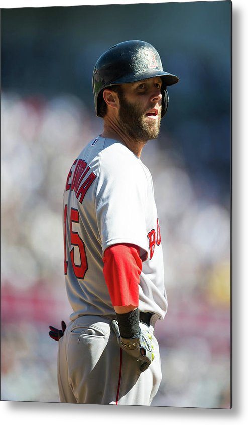 East Metal Print featuring the photograph Dustin Pedroia by Rob Tringali