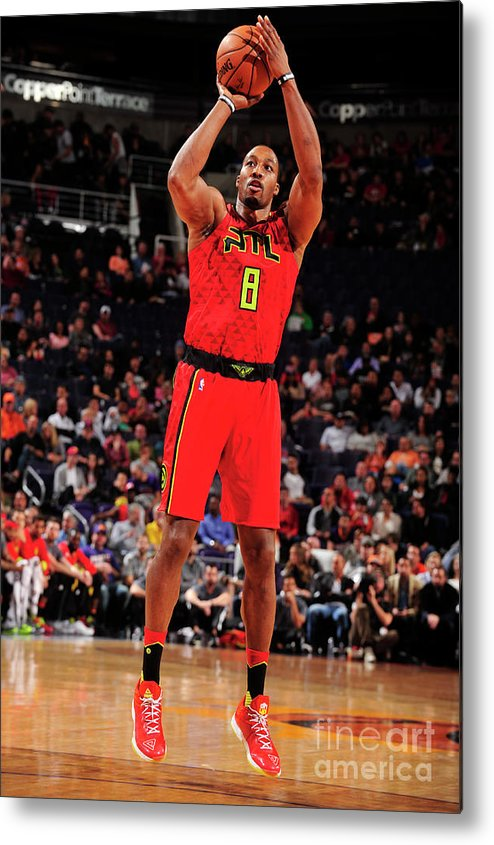 Nba Pro Basketball Metal Print featuring the photograph Dwight Howard by Barry Gossage