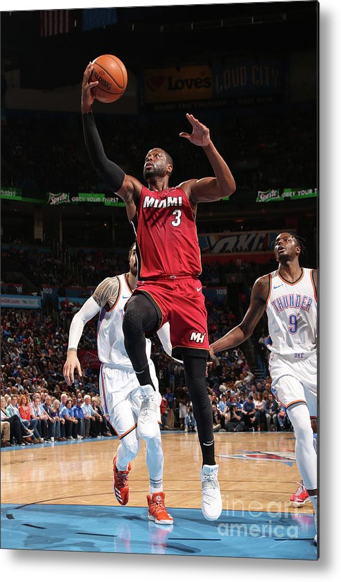 Drive Metal Print featuring the photograph Dwyane Wade by Layne Murdoch