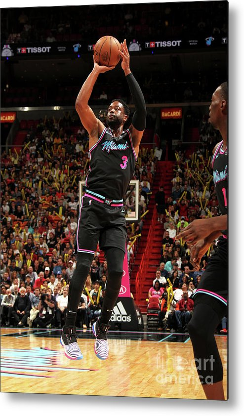 Nba Pro Basketball Metal Print featuring the photograph Dwyane Wade by Oscar Baldizon