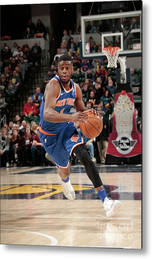 Nba Pro Basketball Metal Print featuring the photograph Emmanuel Mudiay by Ron Hoskins