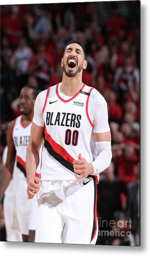 Playoffs Metal Print featuring the photograph Enes Kanter by Sam Forencich