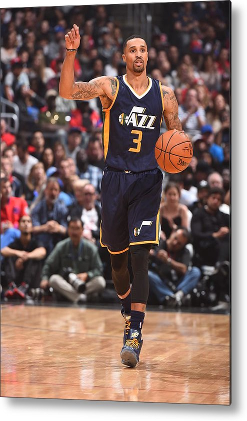 Nba Pro Basketball Metal Print featuring the photograph George Hill by Andrew D. Bernstein