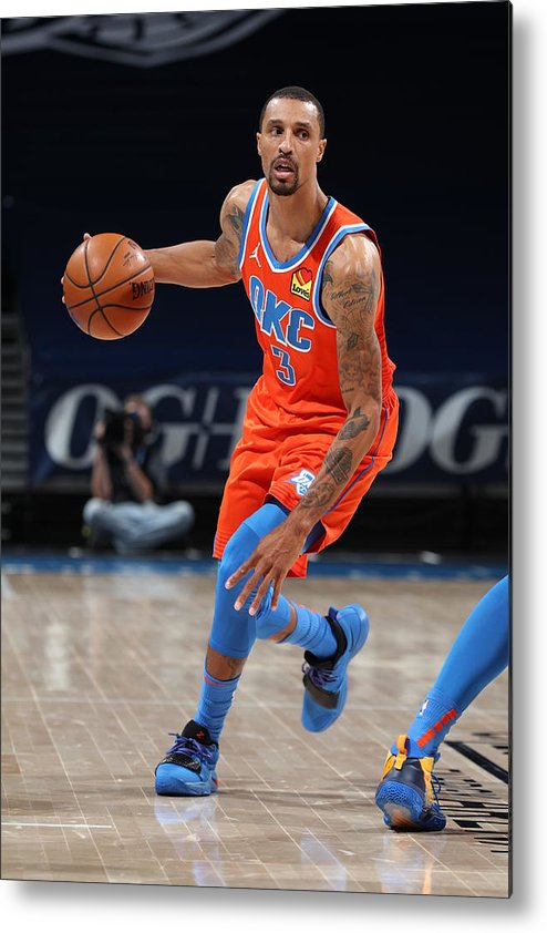 Nba Pro Basketball Metal Print featuring the photograph George Hill by Zach Beeker