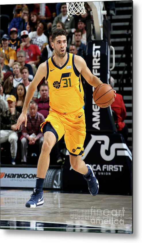 Nba Pro Basketball Metal Print featuring the photograph Georges Niang by Melissa Majchrzak