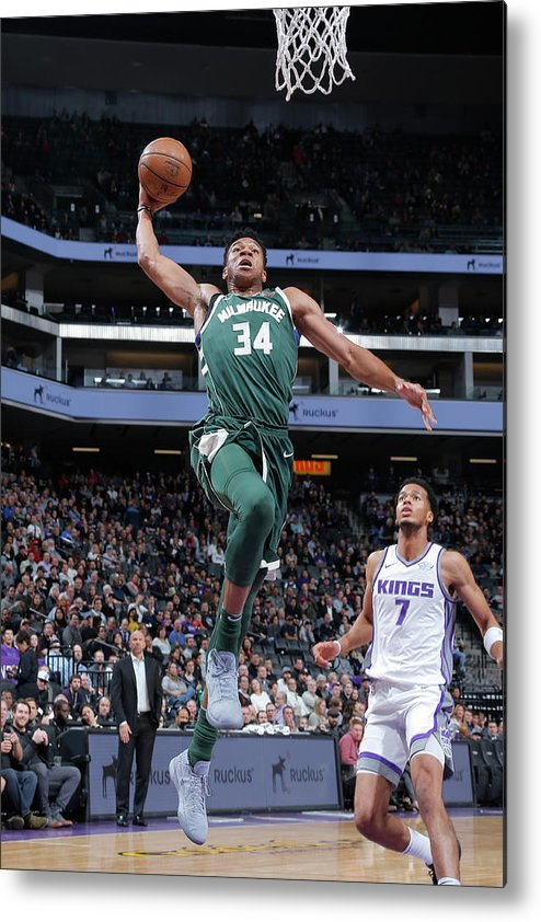 Nba Pro Basketball Metal Print featuring the photograph Giannis Antetokounmpo by Rocky Widner