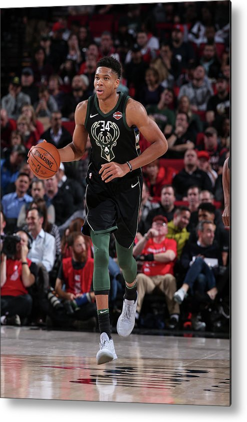 Nba Pro Basketball Metal Print featuring the photograph Giannis Antetokounmpo by Sam Forencich