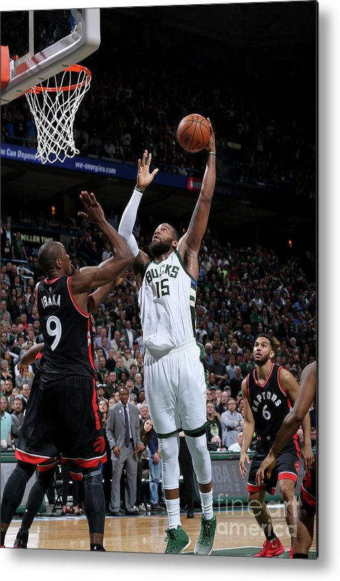 Playoffs Metal Print featuring the photograph Greg Monroe by Gary Dineen