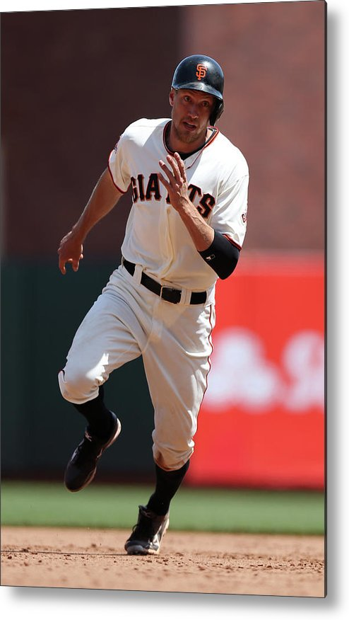 San Francisco Metal Print featuring the photograph Hunter Pence by Brad Mangin