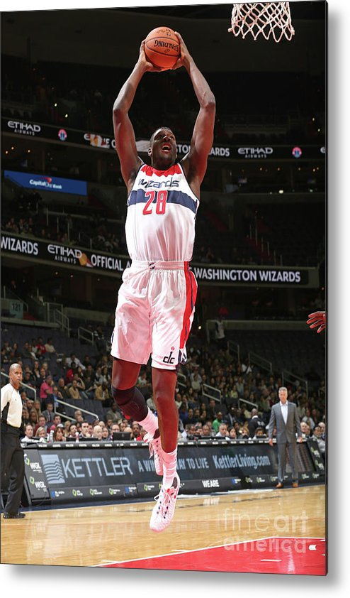 Nba Pro Basketball Metal Print featuring the photograph Ian Mahinmi by Ned Dishman