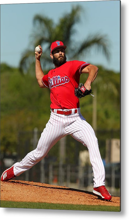 Clearwater Metal Print featuring the photograph Jake Arrieta by Icon Sportswire