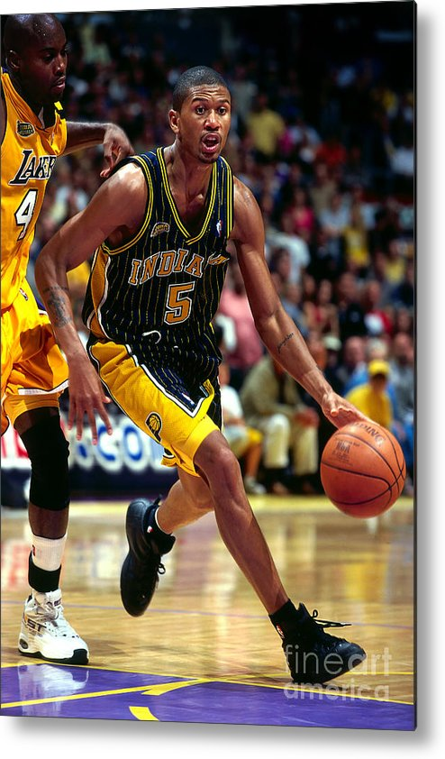 Playoffs Metal Print featuring the photograph Jalen Rose by Andy Hayt