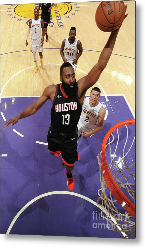 Nba Pro Basketball Metal Print featuring the photograph James Harden by Adam Pantozzi
