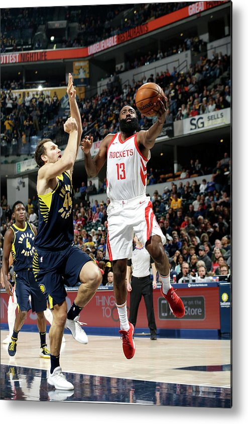 Nba Pro Basketball Metal Print featuring the photograph James Harden by Nba Photos