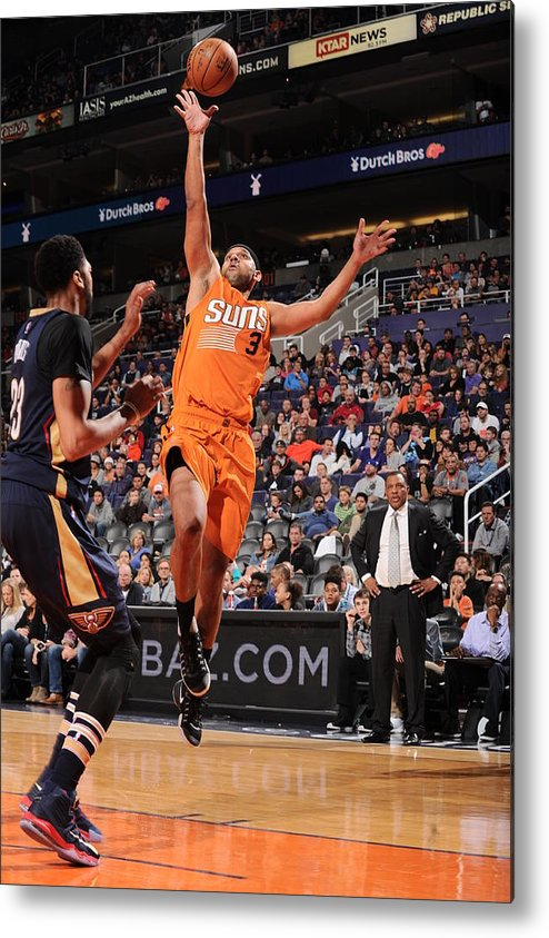 Nba Pro Basketball Metal Print featuring the photograph Jared Dudley by Barry Gossage