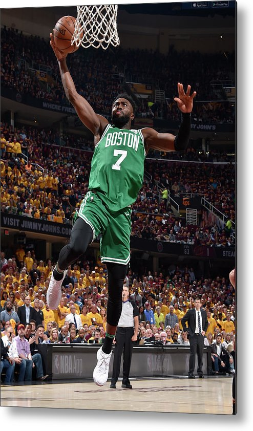 Playoffs Metal Print featuring the photograph Jaylen Brown by David Liam Kyle