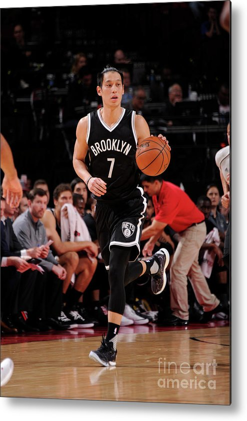 Nba Pro Basketball Metal Print featuring the photograph Jeremy Lin by Bill Baptist