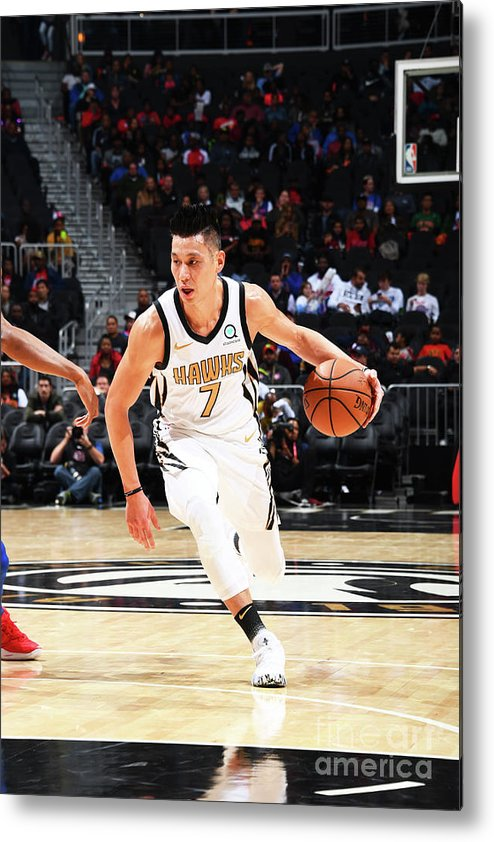 Atlanta Metal Print featuring the photograph Jeremy Lin by Scott Cunningham
