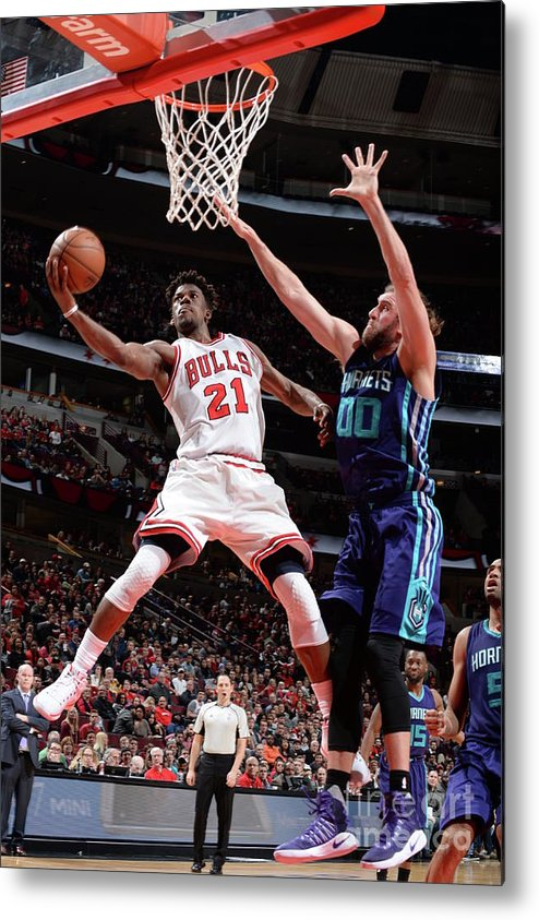 Nba Pro Basketball Metal Print featuring the photograph Jimmy Butler by Randy Belice