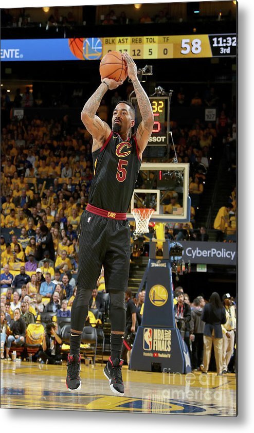 Playoffs Metal Print featuring the photograph J.r. Smith by Nathaniel S. Butler
