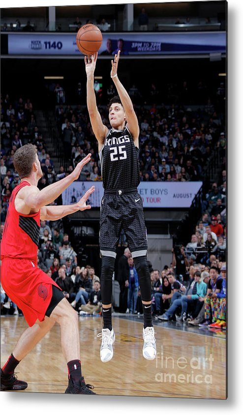 Nba Pro Basketball Metal Print featuring the photograph Justin Jackson by Rocky Widner