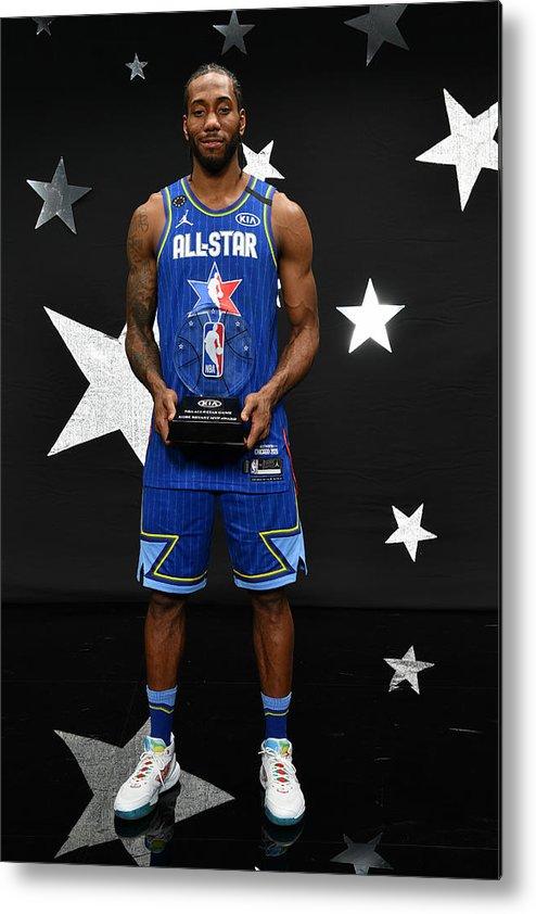 Nba Pro Basketball Metal Print featuring the photograph Kawhi Leonard and Kobe Bryant by Jesse D. Garrabrant