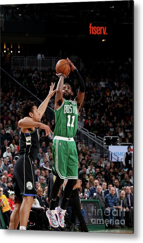 Nba Pro Basketball Metal Print featuring the photograph Kyrie Irving by Gary Dineen
