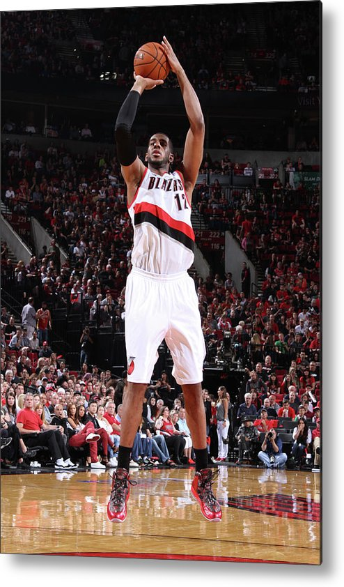 Playoffs Metal Print featuring the photograph Lamarcus Aldridge by Sam Forencich