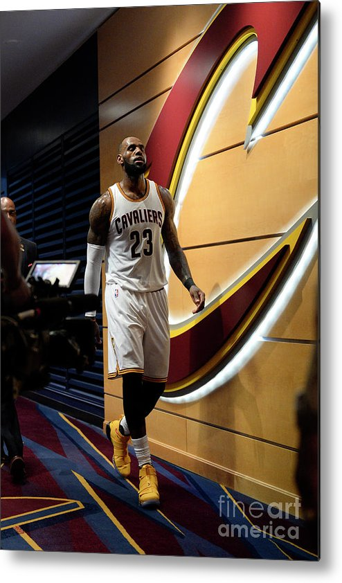 Playoffs Metal Print featuring the photograph Lebron James by David Dow